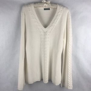 Verve Ami' Knitted Flared Sleeve V-neck Sweater M
